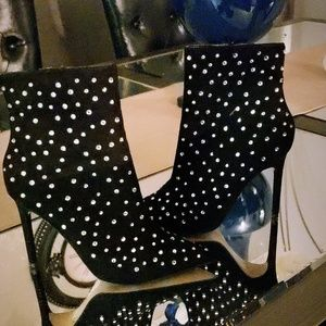 Gemstone heeled Bootie